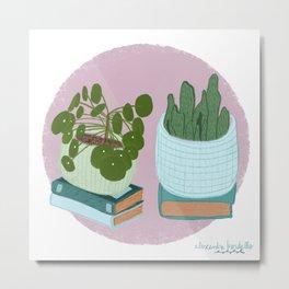 Pilea Peperomioides Plant Art Print Metal Print
