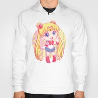sailor moon Hoodies featuring Sailor Moon by strawberryquiche