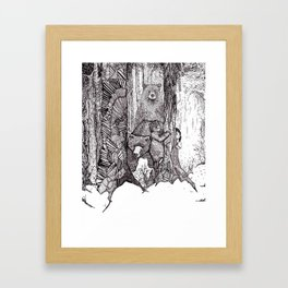 A Grizzly Story Framed Art Print