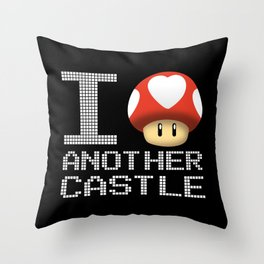 I Love Another Castle Throw Pillow