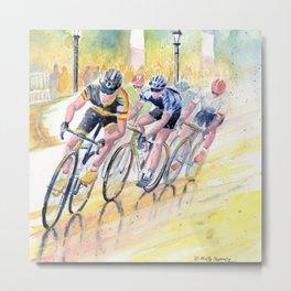Colorful Bike Race Art Metal Print