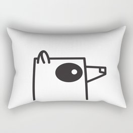Minimalist Raccoon Rectangular Pillow