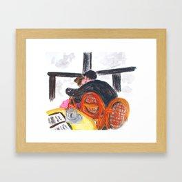 Au café Framed Art Print