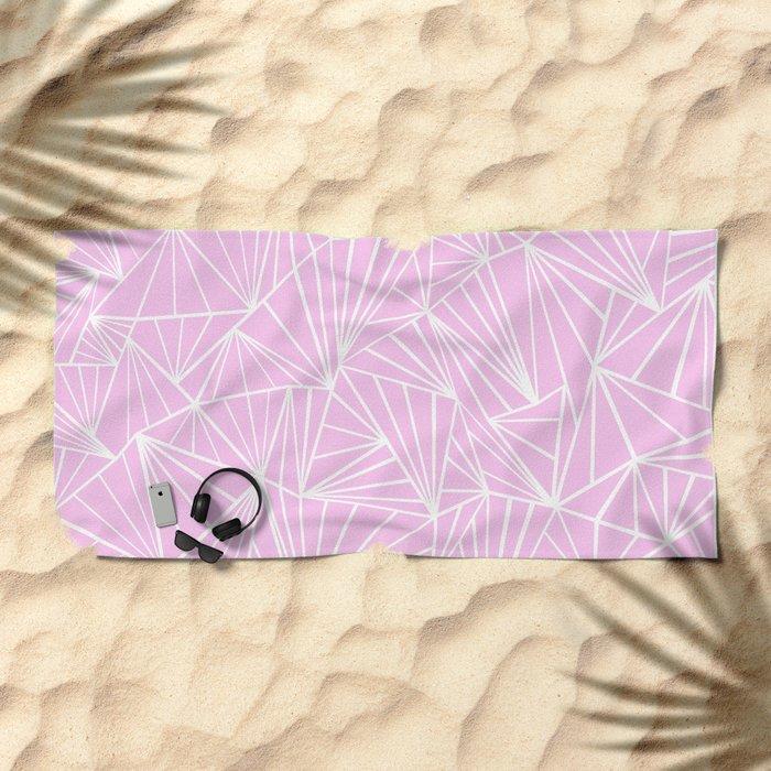 Ab Fan Pink Beach Towel