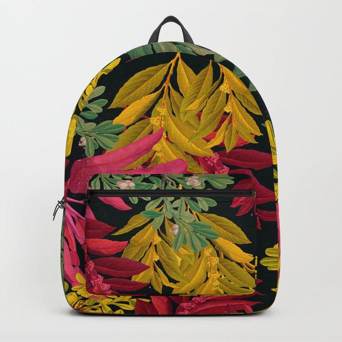 Pink Leaves Backpack