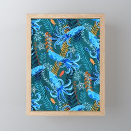 Sparkling Firefly Squid  Framed Mini Art Print