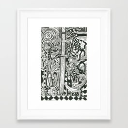Wonderful Silence || Van Framed Art Print