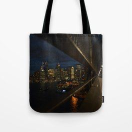 A view from a bridge Tote Bag