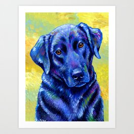 Colorful Labrador Retriever Dog Art Print