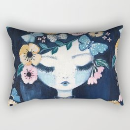 Flower Crown portrait Rectangular Pillow