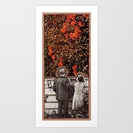OVER THE WALL Art Print