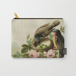 Vintage Birds with Nest Carry-All Pouch