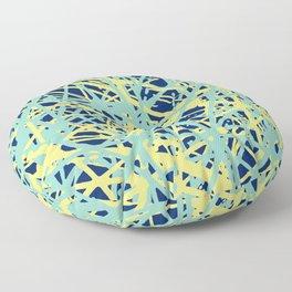 Daisy Scribble Navy, Mint and Lemon Floor Pillow