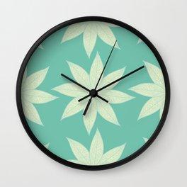Skeleton Leaf Flower Pattern Wall Clock