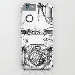 Mother Brain Super Metroid Engraving Scene iPhone Case
