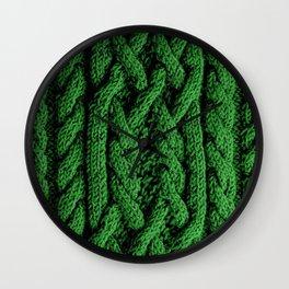 Irish sweater (green) Wall Clock