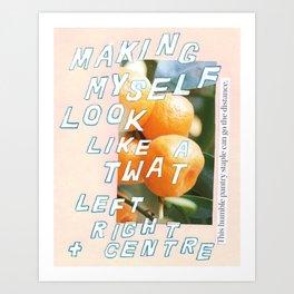 left right + centre Art Print