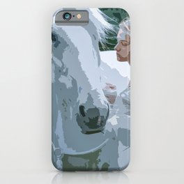 The White Maiden and A White Horse iPhone Case