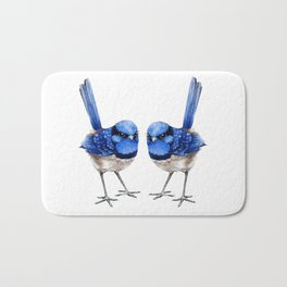 Splendid Blue Wrens, Pair Bath Mat