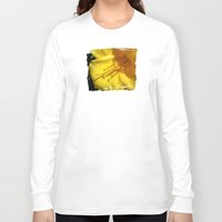 trumpet Long Sleeve T-shirts featuring Yellow Trumpet by VioletRosePetals