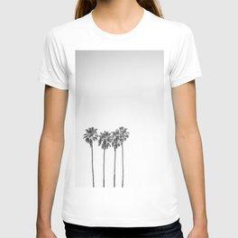 Minimalist Palm trees black-and-white photography T-shirt