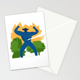 Jeeg attack Stationery Cards