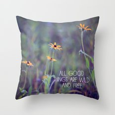All Good Things (Daisy) Throw Pillow