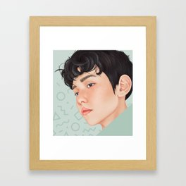 byun baekhyun ~ EXO lucky one Framed Art Print