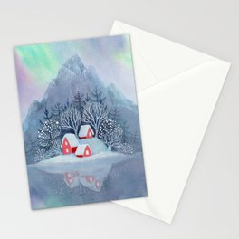Winter Village Stationery Cards