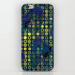 gold&blue iPhone Skin