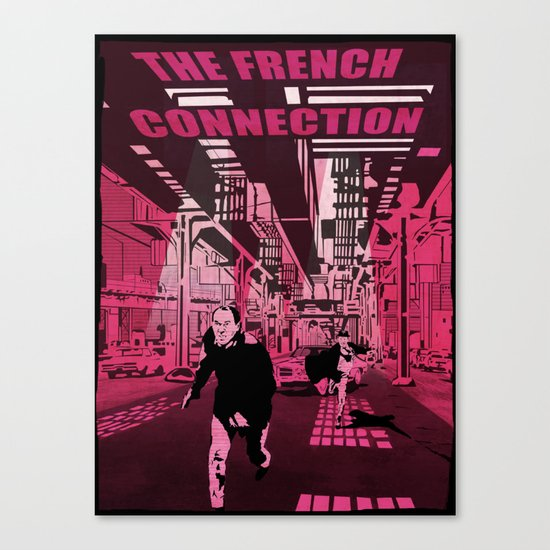 The French connection vector Canvas Print
