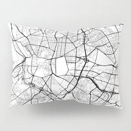 Madrid Spain Street Map Pillow Sham