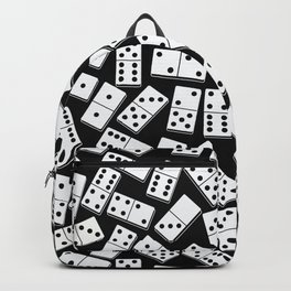 Black and white domino seamless pattern Backpack