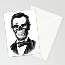 Lincoln Skull Stationery Cards