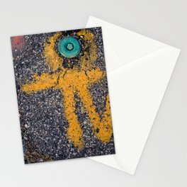 Street Art from my Street Photography Collection, water main cap Stationery Cards