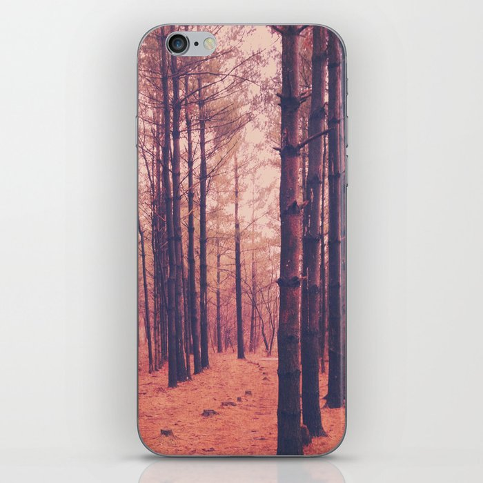 Vintage Pines iPhone Skin