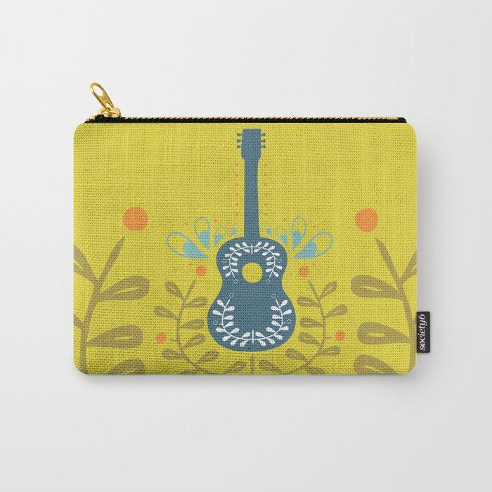 Fancy folk guitar Carry-All Pouch