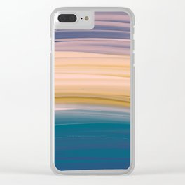 Oil Brush Strokes in Soft Pastel Earth Tones Clear iPhone Case