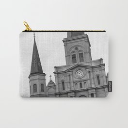 St. Louis Cathedral in Black and White Carry-All Pouch