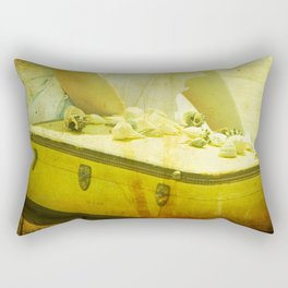 She Sells Seashells I seashells, tall tales, she sells seashells, nursery, rhyme, yellow, brown, gol Rectangular Pillow