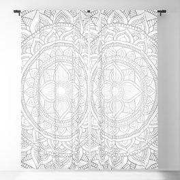 Bali Mandala - Neutral Grey Blackout Curtain
