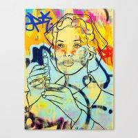 nurse Canvas Prints featuring nurse by casper smith
