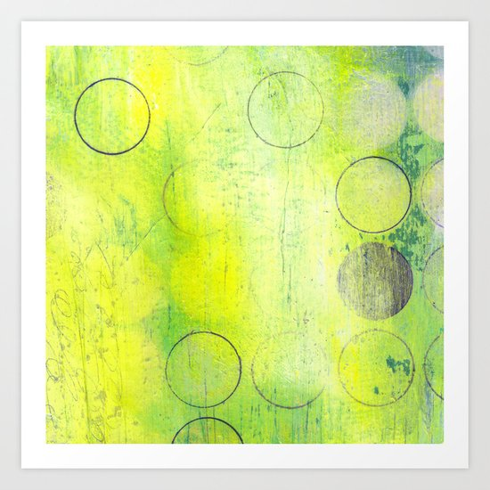 Dream Yellow Art Print