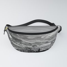Innsbruck In Winter From Patscherkofel Mountain black white Fanny Pack
