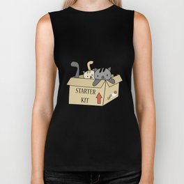 Crazy Cat Lady Starter Kit Biker Tank