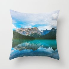 The Mountains and Blue Water Throw Pillow