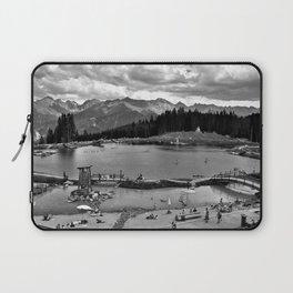 adventure park hög alps serfaus fiss ladis tyrol austria europe black white Laptop Sleeve