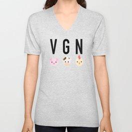 VGN - vegans, vegetarians, animal lovers Unisex V-Neck