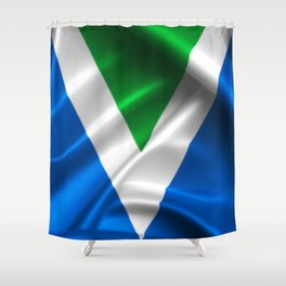 Vegan Flag on soft and shiny clothing Shower Curtain