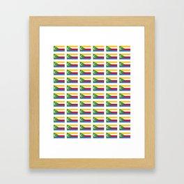 flag of comoros -comores,comorian,comorien,moroni,iles éparses,scattered island,indian ocean Framed Art Print